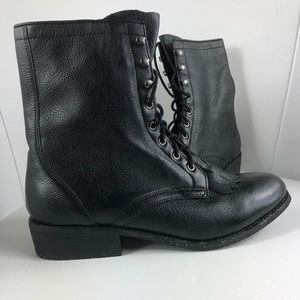 Size 7.5 Dolce Vita Black Leather Combat Boots